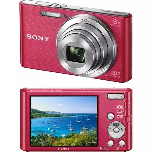 Camera digital sony w830 cyber shot rosa