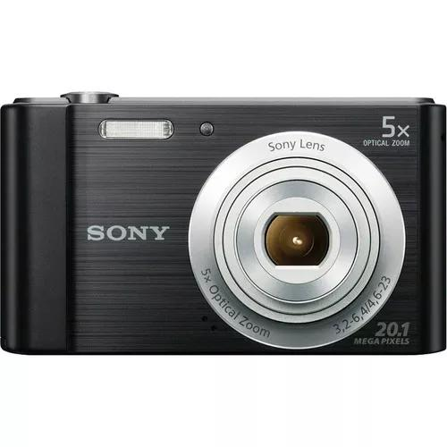 Camera sony cyber shot dsc-w800 20.1 mp + case de brinde!