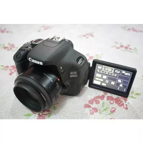 Canon t3i 600d com lente 50mm desconto a vista