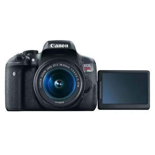Câmera canon eos t6i lente 18-55mm + bolsa + 32gb c/nfe