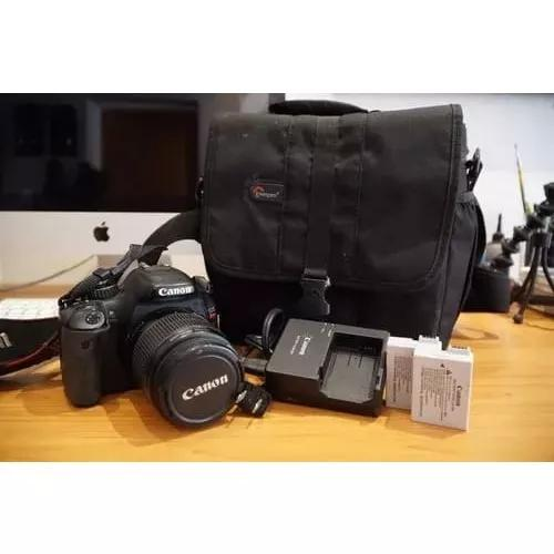 Câmera canon t2i dslr + lente 50mm 1.8 + lente 18-55mm