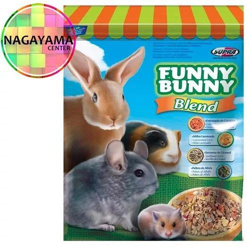 10 ração funny bunny blend 500g + 1 alfafa ou feno