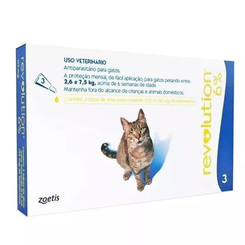 Anti pulgas revolution gatos 45 mg 3 pipetas val 05/21