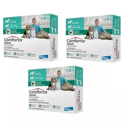 Anti-pulgas comfortis cão de 9 a 18 kg,gato de 5,4 a 11 kg