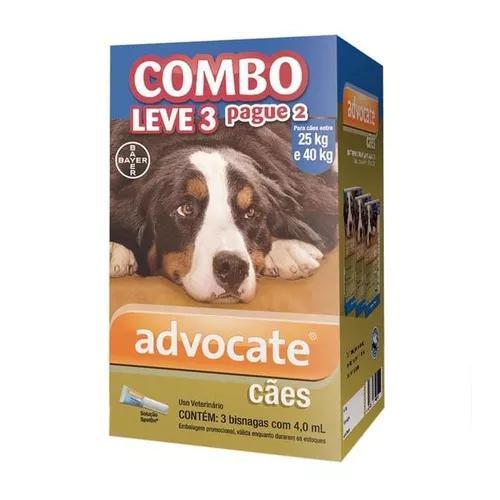 Antipulgas bayer advocate combo cães 25-40kg validade