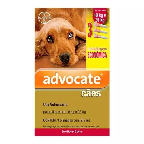 Antipulgas bayer advocate combo cães de 10 a 25 kg -