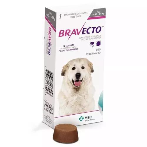 Antipulgas e carrapatos bravecto cães de 40 a 56 kg 1400 mg
