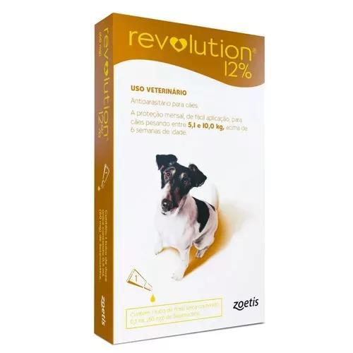Antipulgas revolution 12% cães 5 a 10kg - 1pipeta 01/2021