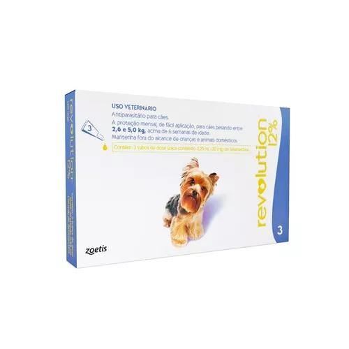Antipulgas revolution 12% combo cães de 2,6 a 5kg - 03/2021