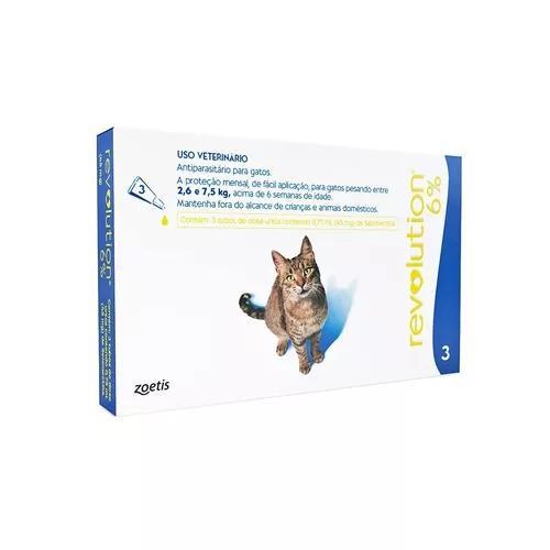 Antipulgas revolution 6% combo gatos de 2,6 a 7,5 kg 03/2021