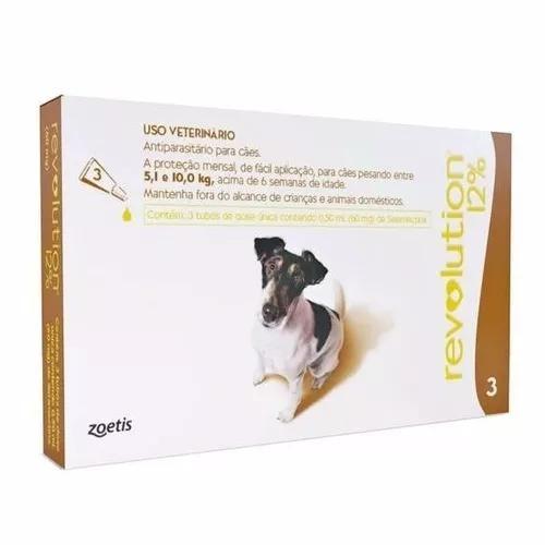 Antipulgas revolution 60 mg cães 5 a 10 kg - 3 pipetas