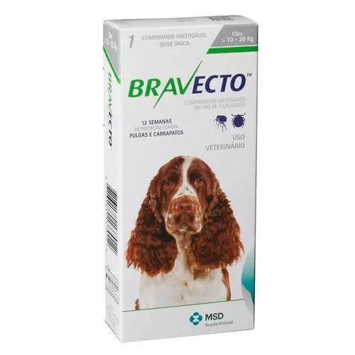 Bravecto msd cães de 10 a 20 kg - 500 mg - 07/2019