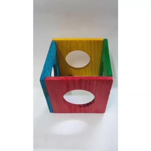 Brinquedo para roedores: cubo - madeira