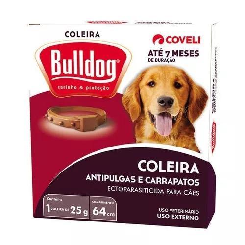 Coleira anti pulgas e carrapatos bulldog 7 meses val 10/20