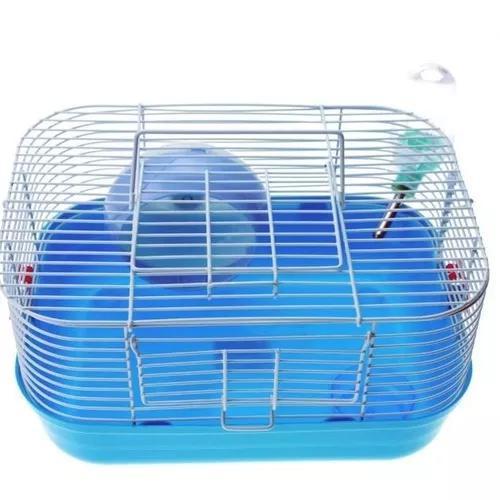 Gaiola hamster popstar completa vermelho com alça