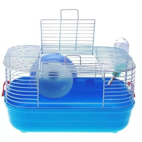 Gaiola transporte hamster completa bebedouro rodinha alça