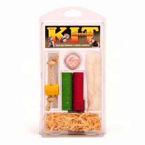 Kit sobrevivência pet pira para roedores hamster