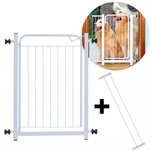 Portao grade de seguranca com extensor de 10 cm para porta