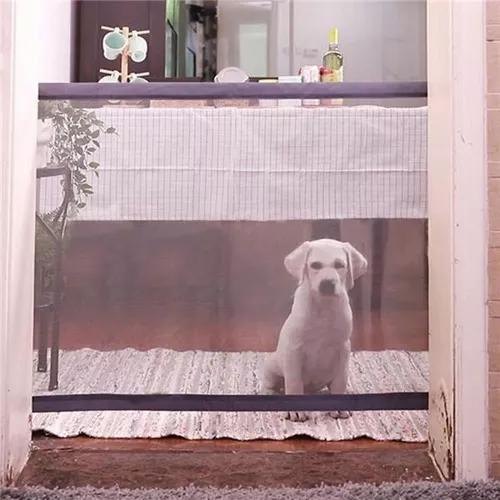 Portão grade de porta cachorros pet magic dog gate cães
