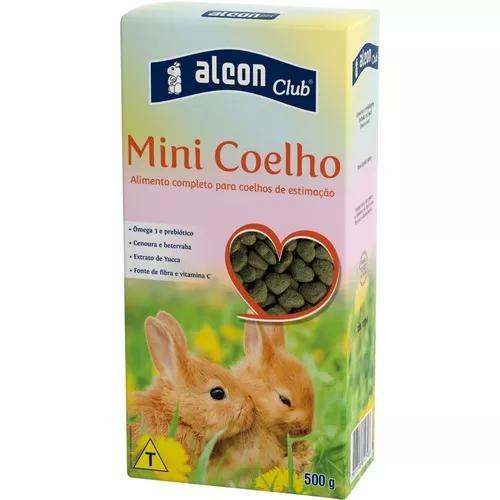 Ração especial p/ mini coelhos. c/ alfafa e extrato de