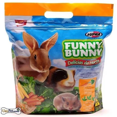 Ração funny bunny pequenos roedores 1,8 kg