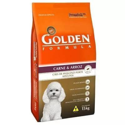 Ração golden carne arroz cães adultos raças pequenas