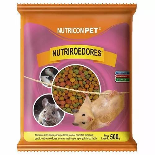 Ração hamster nutriroedores - 500g - nutricon com vitamina