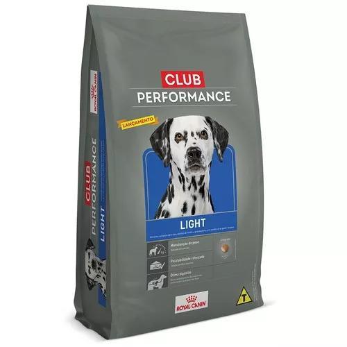 Ração royal canin club performance light cães obesos -