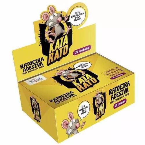 Ratoeira adesiva cola pega rato 20 unidades melhor preço