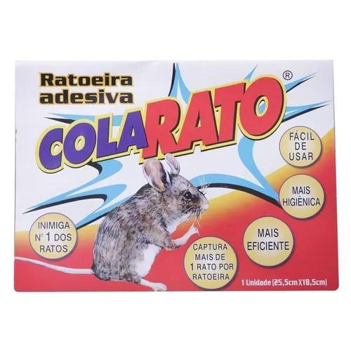 Ratoeira adesiva cola pega rato 40 unidades melhor preço