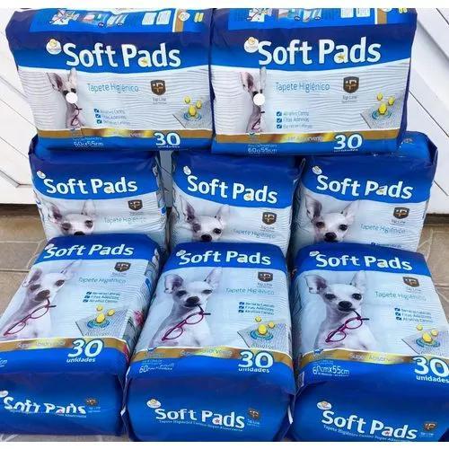 Tapete higiênico barato soft pads 240un atacado