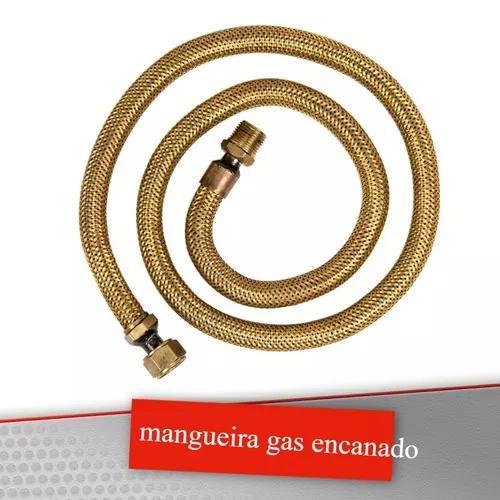 Kit mangueira flexivel de cobre de 1m fogao gas encanado