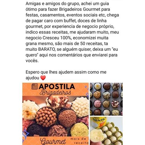 Apostila receitas de brigadeiro gourmet