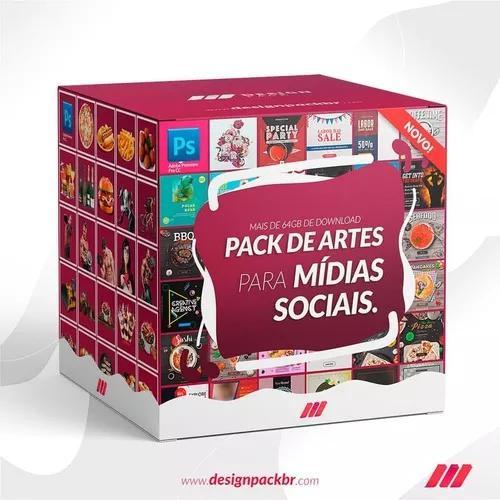 Design pack 500 posts mídia social editáveis + 34mil
