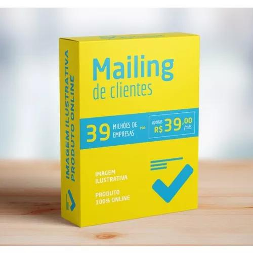 Mailing de clientes 39 milhões de