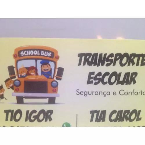 Transporte escolar tio igor