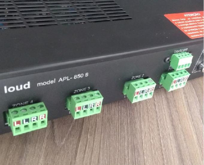 Amplificador Loud Multiroom 4 Zonas 400RMS