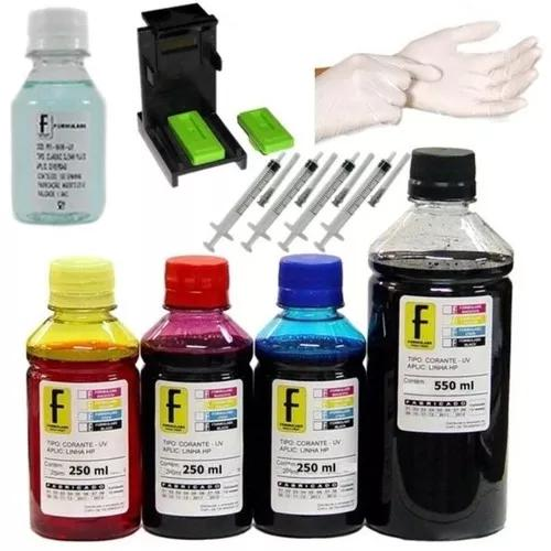 1350ml kit tinta recarga cartuchos impressora hp 662 664 901