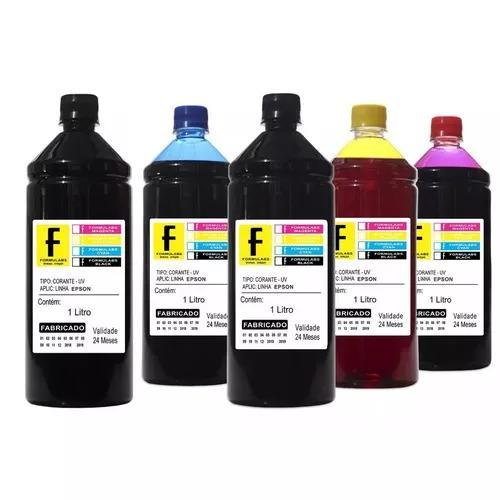 5 litros de tinta p/ epson ecotank l380 l395 l396 formulabs