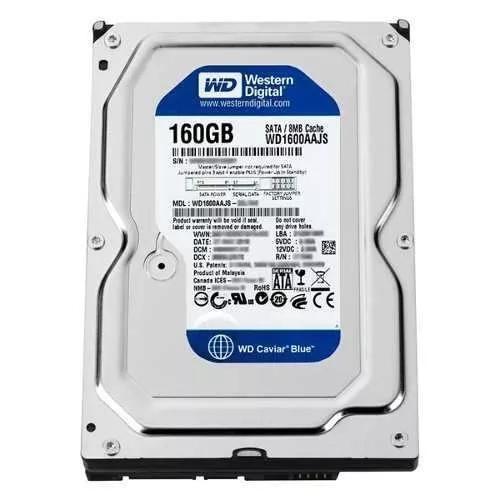 Hd sata 160gb western digital 7200rpm blue / green