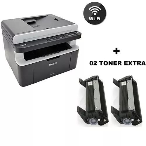 Impressora brother multifuncional wifi dcp-1617nw + 02 toner