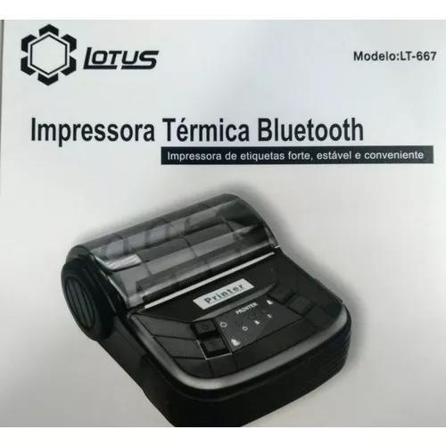 Kit com 12 - mini impressora bluetooth termica 80mm android