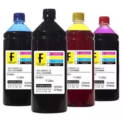 Kit tinta 4 litros impressoras l120 l220 l396 l395 l380 l455