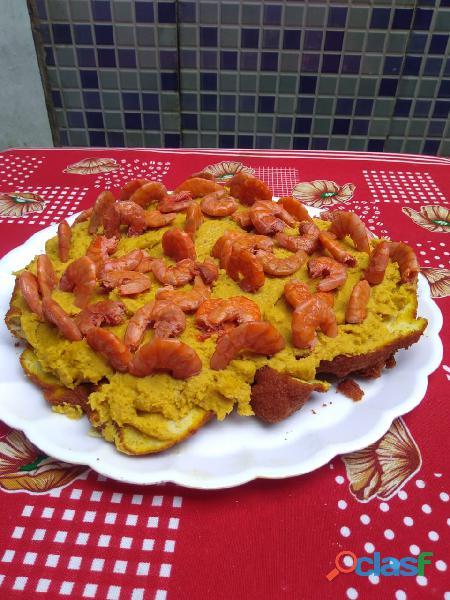 Pizza de acarajé