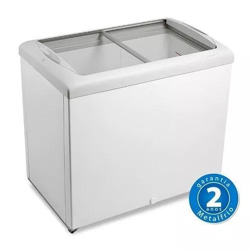 Freezer horizontal tampa de vidro 270l hf30s - metalfrio