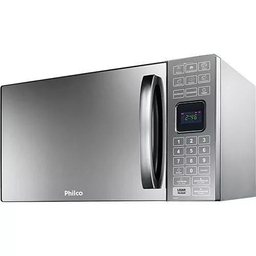 Micro-ondas philco 25 litros pme25 prata espelhado 110v