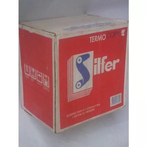 Caixa com 12 unid bobinas silfer orig 215mmx30m lacradas