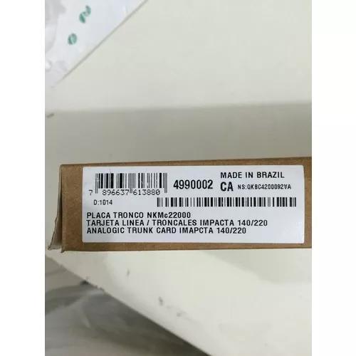 Placa tronco intelbras impacta 94/140/220 nova lacrada