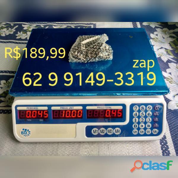 Balança comercial eletrônica residencial Nova de 5g até 40kg Marca SH
