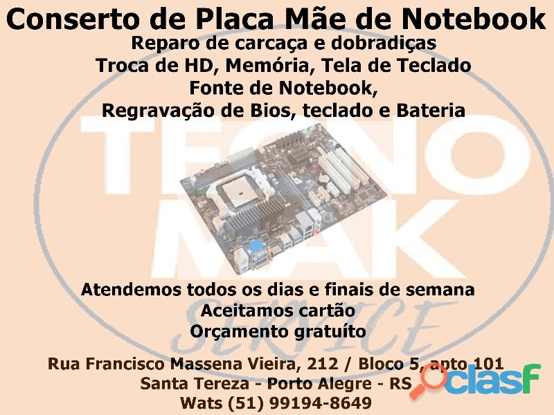 Formatação e Conserto de Notebook com Garantia